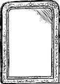 Mirror Vintage frame sketch