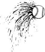 Baseball or Softball Splatter