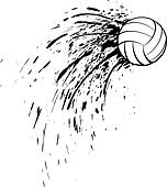 Volleyball Splatter