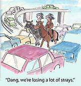 Losing strays