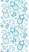 Baby boys vertical seamless pattern background