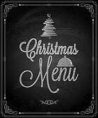 chalkboard - frame merry christmas