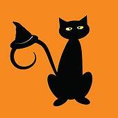 Black Halloween Cat