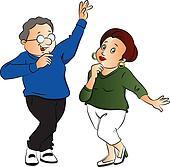 Vector of couple dancing.