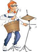 Vector of drummer.