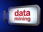 Data concept: Data Mining on billboard background