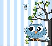cute little blue owl