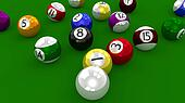 Eight Ball Pool - Balls Scattered