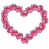 Heart shaped rose frame