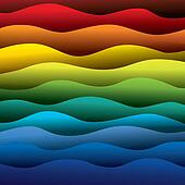 abstract colorful water waves of ocean or sea background (backdr