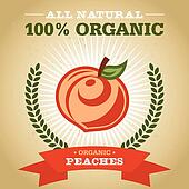 Organic Poster with Peach Icon
