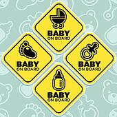 Vector Baby on Board Signs