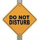 3d road sign do not disturb