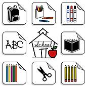 Schoolhouse Stickers