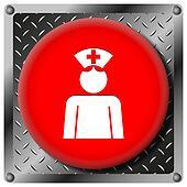 Nurse metallic icon