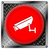 Surveillance camera metallic icon
