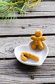 gingerbread man in the christmas