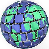 Planet Earth Globe Sytlized Abstract World Global Business