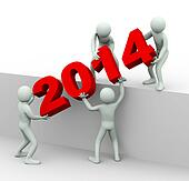 3d people working together to place year 2014