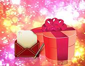 Love letter and gift box