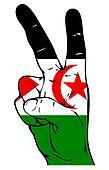 Peace Sign of the Western Sahara Flag