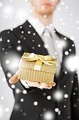 man giving gift box