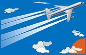 Illustration of cartoon big plane.