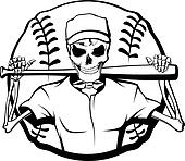 Skeleton Baseball Batter
