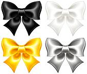 Festive bows black and gold