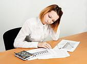 business analyst woman working