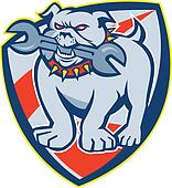 Bulldog Spanner Mascot Shield