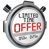 Limited Time Offer Discount Savings Clerance Event Sale