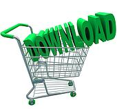 Download Shopping Cart Word Digital File Purchase