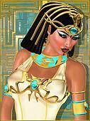 Close up face of beautiful Egyptian