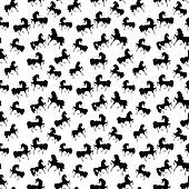 Seamless retro texture with horses