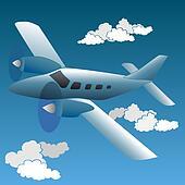 Cartoon small private plane.