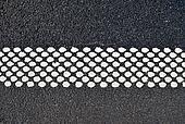 New asphalt texture with white dots line