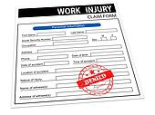 3d rejected work injury claim form