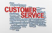 3d Customer service wordcloud