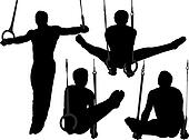Gymnastics Rings Silhouette