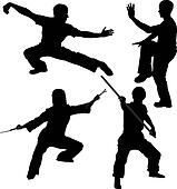 Kung Fu Fighter Silhouette