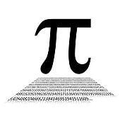 Pi number and sign