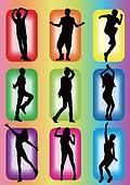 popular dance idol model silhouette
