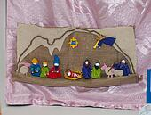 Felt nativity scene of Christmas