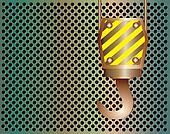 Crane hook metal background