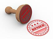 3d wooden rubber stamp denied