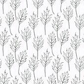 Simple and elegant pattern with oak leafs
