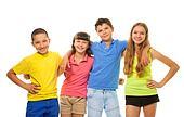 Four preteens kids