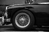 Vintage car parked