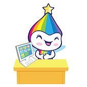 The Rainbow Mascot is doing the presentation. Dream of Fairy Cha